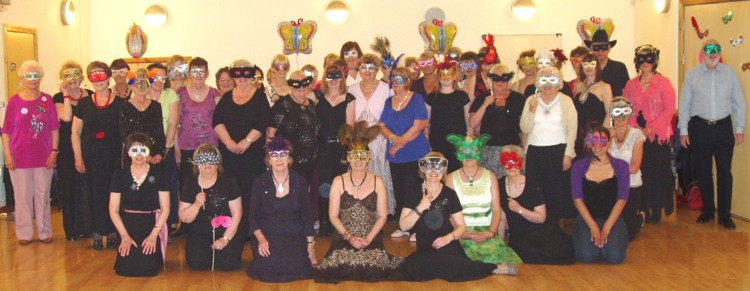 Masked Ball Group Photo
