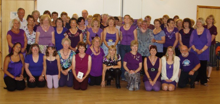 Group Photo at the Summer Party - July 2010 (Purple Theme)