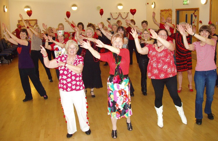 Dancing at the Valentine Social 2013